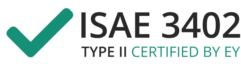 Vi er ISAE 3402 Type 2 certificeret
